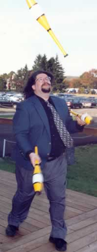 Barry juggling, circa 2000