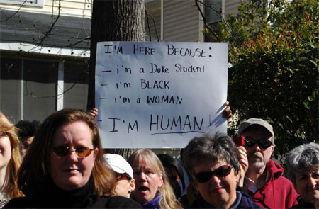 I'm here because: -I'm a Duke Student -I'm Black -I'm a Woman -I'm Human