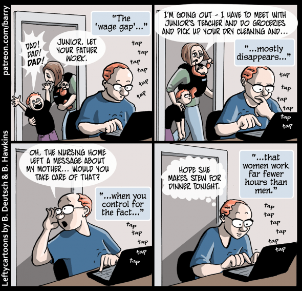 Cartoon The Wage Gap And How Much Women Work Alas A Blog